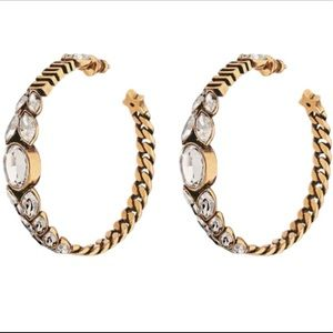 Dio(r)evolution Aged Gold Tone Hoop Earring ⭐️